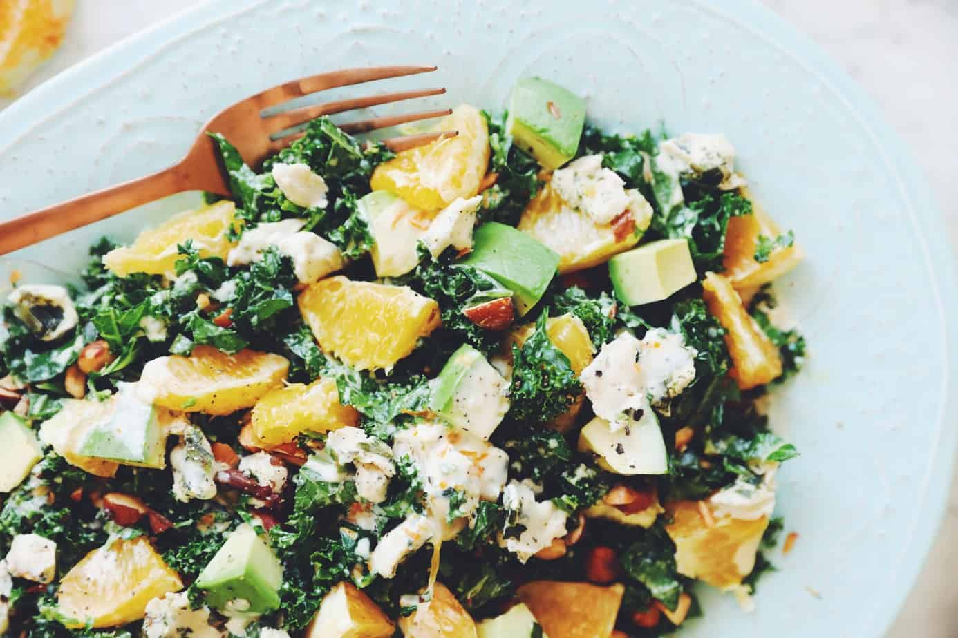 Photo of Kale Avocado Salad with Orange