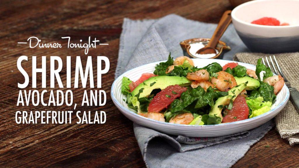 Shrimp Salad with Grapefruit and Avocado